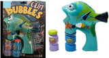 LIGHT UP BLUE TANG DORY FISH BUBBLE GUN WITH SOUND (sold by the piece ) *- CLOSEOUT NOW $ 3.95 EA