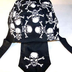 NEW SKULL X BONE BANDANA CAP (Sold by the piece) *- CLOSEOUT NOW $ 1.25 EA