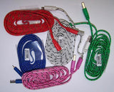 IPHONE 5 6 7  BRAIDED CLOTH PHONE CABLE CHARGING CORDS 6 FOOT ( sold by the piece ) CLOSEOUT NOW ONLY  $ 1 EA