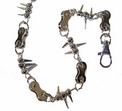 SPIKES HEAVY WALLET METAL 29 INCH CHAINS WITH CLIP (Sold by the piece) * CLOSEOUT NOW $ 2.50 EA