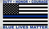 BLUE LIVES MATTER THIN BLUE LINE 3 X 5 FLAG ( sold by the piece )
