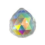 30mm CLEAR GLASS CRYSTAL PRISM RAINBOW LIGHT BALL (sold by piece or dozen)