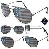 AMERICAN FLAG on LENSES AVAITOR SUNGLASSES ( sold by the piece or dozen )