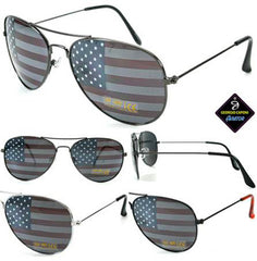 AMERICAN FLAG on LENSES SUNGLASSES ( sold by the piece or dozen )