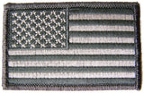 AMERICAN FLAG URBAN GREY left arm 3 INCH EMBROIDERED PATCH ( sold by the piece )