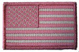 AMERICAN FLAG PINK left arm 3 INCH EMBROIDERED PATCH ( sold by the piece )