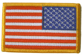 AMERICAN FLAG right arm 3 INCH EMBROIDERED PATCH ( sold by the piece )