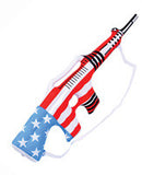 AMERICAN FLAG INFLATABLE 34 inch MACHINE GUN ( sold by the dozen )