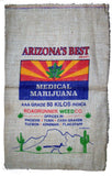 ARIZONA'S BEST MEDICAL  MARIJUANA BURLAP BAG ( sold by the piece )