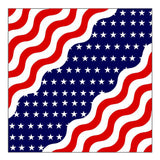 DELUXE AMERICAN USA WAVY FLAG BIKER BANDANA (Sold by the piece or dozen)
