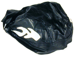 VINYL CAP WITH FLAMES BANDANNA CAP  / HAT  (Sold by the piece) -* CLOSEOUT NOW ONLY $1.00 EA