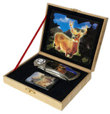 BIG BUCK DEER WITH OIL LIGHTER BOXED KNIFE (Sold by the piece)