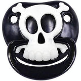 BLACK PIRATE SKULL BILLY BOB TODDLER PACIFIER ( sold by  the piece )