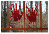 REALISTIC 3D GEL BLOODY HAND PRINTS ( sold by the piece or dozen pair )