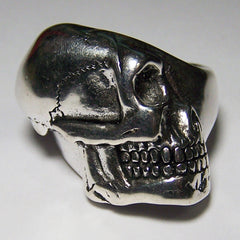 SIDEWAYS SKULL HEAD BIKER RING  (Sold by the piece)