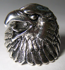 EAGLE WITH HEAD TURNED BIKER RING (Sold by the piece)