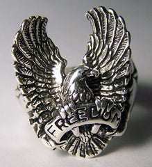 FREEDOM FLYING EAGLE DELUXE BIKER RING (Sold by the piece) *