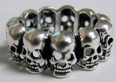 CIRCLE OF SKULLS BIKER RING  (Sold by the piece)