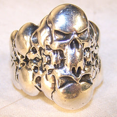 REFLECTION SKULLS BIKER RING (Sold by the piece)