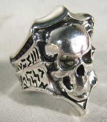 BIKER RING SKULL SHIELD (Sold by the piece) *CLOSEOUT 3.95 EA