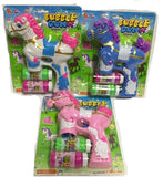 LIGHT UP PONY / HORSE BUBBLE GUN WITH SOUND (sold by the piece )