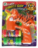 LIGHT UP CARTOON TIGER BUBBLE GUN WITH SOUND (sold by the piece )