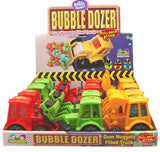 BUBBLE GUM BULL DOZER CANDY ( sold by the dozen )
