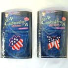 AMERICAN FLAG SHAPED EMBROIDERED PATCHES  (Sold by the dozen) CLOSEOUT NOW ONLY 25 CENTS EA