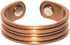 PURE HEAVY COPPER STYLE # A  MAGNETIC RING ( sold by the piece )