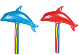 DOLPHIN 24 IN INFLATABLE WANDS ( sold by the piece OR dozen ) CLOSEOUT $1.00 EA BY THE DOZEN