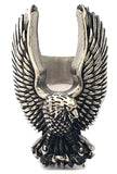 FLYING EAGLE WINGS STAINLESS STEEL BIKER RING ( sold by the piece )