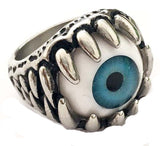 EYE BALL STAINLESS STEEL BIKER RING ( sold by the piece )