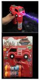 LIGHT UP RED FIRETRUCK BUBBLE GUN WITH SOUND (sold by the piece )
