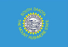 SOUTH DAKOTA STATE 3' X 5' FLAG (Sold by the piece) *- CLOSEOUT $ 2.95 EA