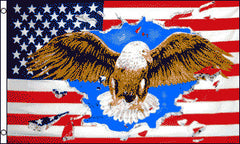 AMERICAN EAGLE 3' X 5' FLAG (Sold by the piece)