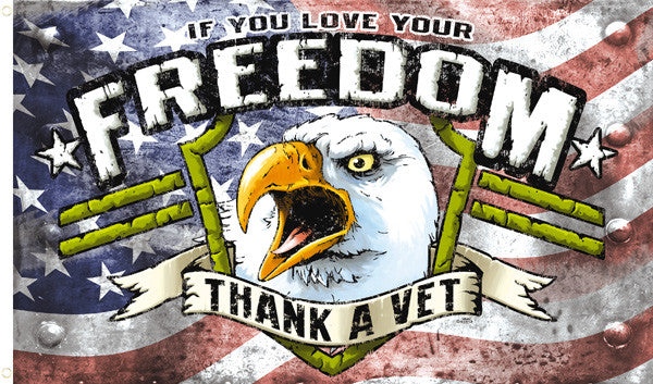 Freedom Thank A Vet Deluxe 3 X 5 Flag Sold By The Piece