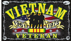 VIETNAM VETERAN SOLDIERS DELUXE 3 X 5 FLAG ( sold by the peice )