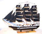 WOODEN 24 inch PIRATE SHIP (Sold by the piece) CLOSEOUT $ 24.50 EA