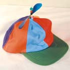 CRAZY ADULT SIZE HELICOPTER PROPELLAR BASEBALL HAT (Sold by the piece)