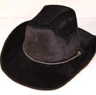BLACK VELVET COWBOY HATS (Sold by the piece) * CLOSEOUT NOW $ 2 EA