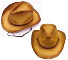 DELUXE COWBOY BROWN CURL UP HAT (Sold by the piece) *- CLOSEOUT NOW $5 EA