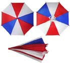 AMERICAN FLAG RED WHITE BLUE UMBRELLA HATS (Sold by the dozen)