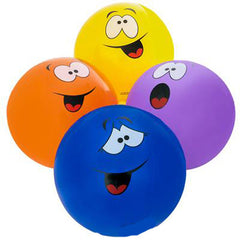 SMILE SILLY FACE INFLATABLE 16 INCH BALLS ( sold by the piece or dozen )