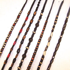 DARK HEMP BEADED NECKLACES  (Sold by the piece or dozen)