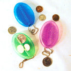 COIN PURSE KEY CHAIN (Sold by the dozen) * CLOSEOUT * NOW ONLY 0.25 CENTS EA