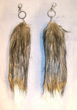 LIGHT BROWN WHITE TIP FOX TAIL KEY CHAIN (Sold by the piece)