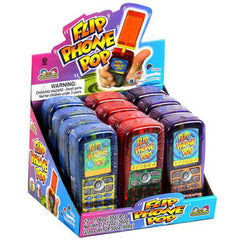 FLIP CELLULAR PHONE CANDY POP ( sold by the dozen)