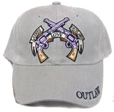 LADIES LOVE OUTLAWS W BADGE EMBROIDERED BASEBALL HAT (Sold by the piece)-* CLOSEOUT ONLY $ 1.95 EA
