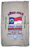 TEXAS LONE STAR MARIJUANA BURLAP BAG ( sold by the piece )