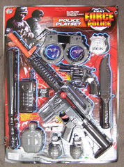 POLICE PLAY SET WITH M16 MACHINE GUN (sold by the piece or dozen )
